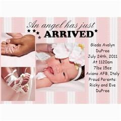 Baby Gia By Debi King   5  X 7  Photo Cards   Cbq6m6x9ro1c   Www Artscow Com 7 x5 Photo Card - 5