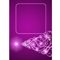 Pink Christmas Wishes 5x7 Card By Deborah   Greeting Card 5  X 7    Cxyoufx9r1hy   Www Artscow Com Front Inside
