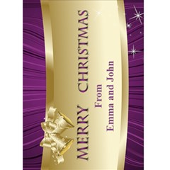 Pink Merry Christmas 5x7 Card By Deborah   Greeting Card 5  X 7    6jpn5ldzvv1d   Www Artscow Com Front Cover