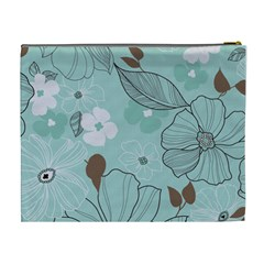 Blue Floral By Jessica   Cosmetic Bag (xl)   Yjbncm1lj5w8   Www Artscow Com Back
