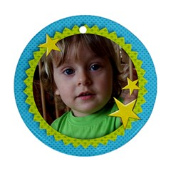 Preschool/boy  Round Ornament (2 Sides) By Mikki   Round Ornament (two Sides)   Wtqc0h4wg88e   Www Artscow Com Back
