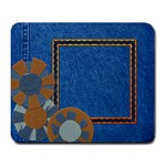 denim-mousepad - Large Mousepad