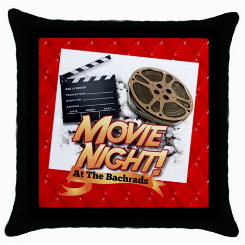 Movie  Pillow By Eileen   Throw Pillow Case (black)   Rxre2ftwh7l0   Www Artscow Com Front