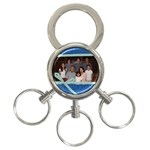 denim-family-keychain - 3-Ring Key Chain