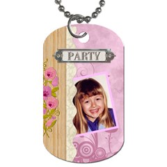 Party Fun 2 Sided Dog Tag By Lil    Dog Tag (two Sides)   Dq0waeo27xw9   Www Artscow Com Front