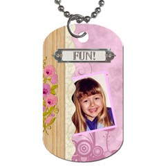 Party Fun 2 Sided Dog Tag By Lil    Dog Tag (two Sides)   Dq0waeo27xw9   Www Artscow Com Back
