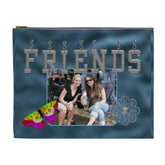 Friends Xl Cosmetic Bag By Lil    Cosmetic Bag (xl)   Exbrz2r0u698   Www Artscow Com Front