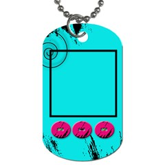 Backpack School Tag By Amanda Bunn   Dog Tag (two Sides)   39hm05pjsagy   Www Artscow Com Front