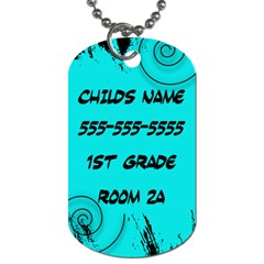 Backpack School Tag By Amanda Bunn   Dog Tag (two Sides)   39hm05pjsagy   Www Artscow Com Back