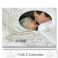 Our Wedding Or Anniversary 2017 (any Year) Calendar By Deborah   Wall Calendar 11  X 8 5  (12 Months)   Fbyf19qko64u   Www Artscow Com Cover