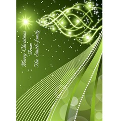 Green Christmas Wishes 5x7 Card By Deborah   Greeting Card 5  X 7    Trsj6bqbwgmk   Www Artscow Com Front Cover