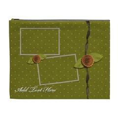 Cosmetic Bag (xl)  Green & Dots By Jennyl   Cosmetic Bag (xl)   Szdnx00cu5xv   Www Artscow Com Front