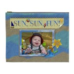 Sun, Sun, Fun! XL Cosmetic Bag - Cosmetic Bag (XL)