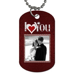 I Love You 4ever 2 Sided Dog Tag By Lil    Dog Tag (two Sides)   Gykn4ktwdiag   Www Artscow Com Front