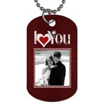 I Love You 4Ever 2-Sided Dog tag - Dog Tag (Two Sides)