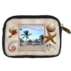 Sea Shells Digital Leather Camera Case By Lil    Digital Camera Leather Case   B11fzplgk1lo   Www Artscow Com Back