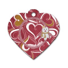 I Heart Dog Tag 1 By Lisa Minor   Dog Tag Heart (two Sides)   Hlflddrquqnp   Www Artscow Com Front