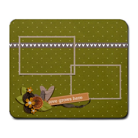 Mousepad  Love Grows Here2 By Jennyl   Large Mousepad   I7iiapa6ups5   Www Artscow Com Front