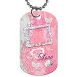 Spring flower love pink dog tag - Dog Tag (One Side)