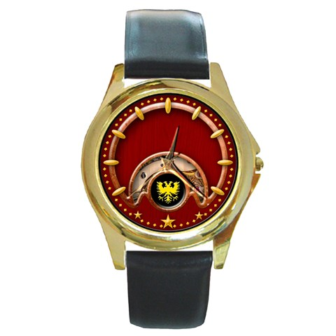 Shiloh Watch By Timm Miller   Round Gold Metal Watch   Ctcg0ai2ck2c   Www Artscow Com Front