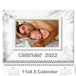 General Purpose Textured 2017 Calendar (large Numbers) - Wall Calendar 11  x 8.5  (12-Months)