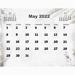 General Purpose Textured 2017 Calendar (large Numbers) By Deborah   Wall Calendar 11  X 8 5  (12 Months)   Kzefe08h2870   Www Artscow Com May 2017