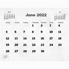 General Purpose Textured 2013 Calendar (large Numbers) by Deborah Jun 2013