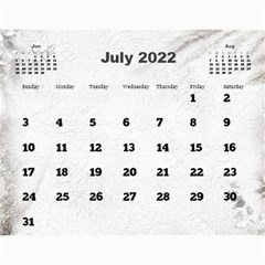 General Purpose Textured 2013 Calendar (large Numbers) by Deborah Jul 2013