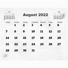 General Purpose Textured 2013 Calendar (large Numbers) by Deborah Aug 2013