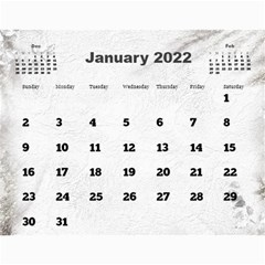 General Purpose Textured 2017 Calendar (large Numbers) By Deborah   Wall Calendar 11  X 8 5  (12 Months)   Kzefe08h2870   Www Artscow Com Jan 2017
