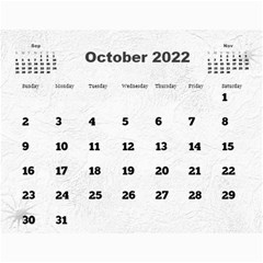 General Purpose Textured 2013 Calendar (large Numbers) by Deborah Oct 2013