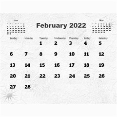 General Purpose Textured 2017 Calendar (large Numbers) By Deborah   Wall Calendar 11  X 8 5  (12 Months)   Kzefe08h2870   Www Artscow Com Feb 2017