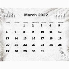 General Purpose Textured 2017 Calendar (large Numbers) By Deborah   Wall Calendar 11  X 8 5  (12 Months)   Kzefe08h2870   Www Artscow Com Mar 2017