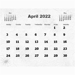 General Purpose Textured 2013 Calendar (large Numbers) by Deborah Apr 2013