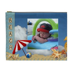 Beach And Ocean Xl Cosmetic Bag By Lil    Cosmetic Bag (xl)   J5ghedsy507m   Www Artscow Com Front