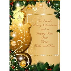 Merry Christmas 5x7 Card 2 By Deborah   Greeting Card 5  X 7    Qppx5y0zg9h8   Www Artscow Com Front Cover