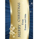 Midnight Blue Merry Christmas 5x7 card - Greeting Card 5  x 7