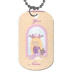 Rapunzel Tag Blank By Heather    Dog Tag (two Sides)   Zpc5hh2izwga   Www Artscow Com Front
