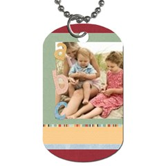 Back To School By Joely   Dog Tag (two Sides)   L70jq1yyy02f   Www Artscow Com Back