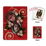 Holiday-Red & Green-playing cards (single) - Playing Cards Single Design