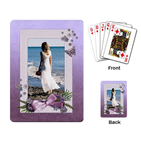 Purple Heal Wedding Playing Cards (single) By Mikki   Playing Cards Single Design   Qol4woas1052   Www Artscow Com Back