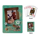 Beach-Travel-Tropical-playing cards (single) - Playing Cards Single Design