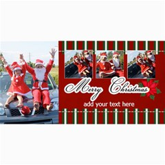 4x8 Photo Cards  Stripes Christmas By Jennyl   4  X 8  Photo Cards   K6pqmwwmy5uk   Www Artscow Com 8 x4 Photo Card - 1