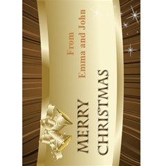 Gold Merry Christmas 5x7 Card By Deborah   Greeting Card 5  X 7    Bsm8ku6v808x   Www Artscow Com Front Cover