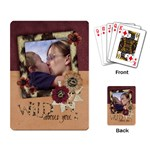 Wild about you/love-Playing cards (single design) - Playing Cards Single Design