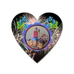 akron zoo magnet - Magnet (Heart)