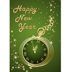 Happy New Year ( Green) 5x7 Card By Deborah   Greeting Card 5  X 7    G041br70x7u8   Www Artscow Com Front Cover