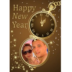 Happy New Year (gold) 5x7 Card By Deborah   Greeting Card 5  X 7    Cpifiwsoi1fg   Www Artscow Com Front Cover