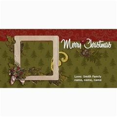 4x8 Photo Card: Classic Merry Christmas By Jennyl   4  X 8  Photo Cards   11njiiut454p   Www Artscow Com 8 x4 Photo Card - 1