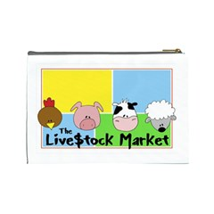 Livestockmkt Cosmetic Bag Large By Pamela Tan   Cosmetic Bag (large)   Ktxa2ypmz792   Www Artscow Com Back